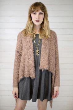 Fluff Open Sweater Cardigan #shopmaude www.shopmaude.com
