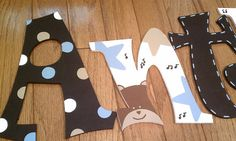 Hand Painted Wall Letters  Carter's Monkey Rockstar  by lkcolley, $12.00