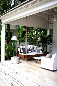 Covered porch area.