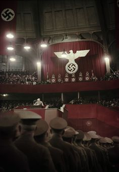 The official gathering of the National Socialist German Workers Party, held within a historical and beautifully-crafted theater hall.