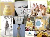 Light blue and yellow summer wedding theme http://weddings.wikia.com/wiki/Summer_wedding_colors