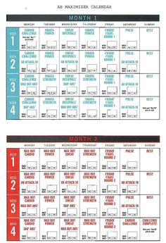 Insanity Ab Maximizer Calendar! Hit Tha Floor - Starting 12/15/14-Shaun T Insane Abs Calendar Schedule