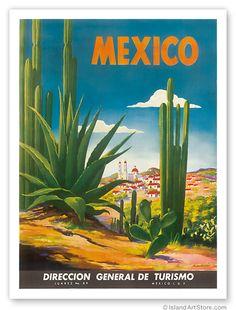 Mexico vintage poster - turismo