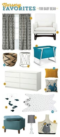 Shared Bedroom/Nursery Inspiration for Baby Bean | Studio Pebbles