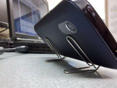 Paperclip iPhone Stand