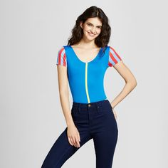 Disney Women's Snow White Bodysuit - Blue XS (Juniors)