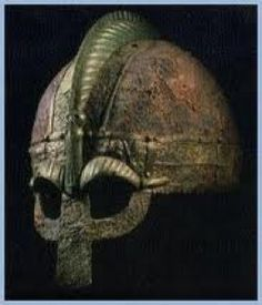 Archetypal Viking helm with spectacle plate and noseguard