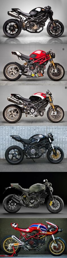 """One of the greatest aspects of the Ducati, especially the Monster, is the huge amount of accessories available to make every bike almost """"one-of-a-kind"""" Ducati Motorcycles, Custom Motorcycles, Custom Bikes, Cars And Motorcycles, Custom Baggers, Yamaha Helmets, Ducati Custom, Custom Bmw, Ducati Cafe Racer"""