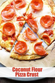 Coconut Flour Pizza Crust Low Carb and Delicious! Healthy Recipes is part of braids - This coconut flour pizza crust is the best glutenfree pizza crust I've ever tried It's soft and tasty, and sturdy enough to hold with your hands Low Carb Pizza, Low Carb Keto, Low Carb Recipes, Cooking Recipes, Coconut Flour Recipes Keto, Coconut Flour Pancakes, Pizza Pizza, Coconut Flour Baking, Cooking With Coconut Flour