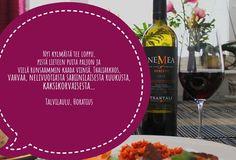 Viinihetken Kreikka-teeman 2. osa Red Wine, Alcoholic Drinks, Glass, Food, Drinkware, Corning Glass, Essen, Liquor Drinks, Meals