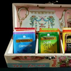 New in: Tea Caddy 'Teapots & Teacups' themed decoupage. Treat the Tea Connoisseur in your life! :0)