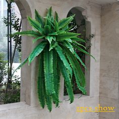 Artificial plant Persian leaves fern plant wall plastic leaves mall background wall Gallery window wedding decoration