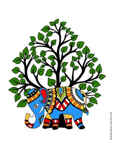 Madhubani Art, Madhubani Painting, Small Paintings, Beautiful Paintings, Art Forms Of India, Worli Painting, Wallpaper Iphone Quotes Backgrounds, Indian Traditional Paintings, Creative Arts And Crafts