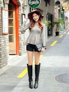 Thigh High Boots Heels, Knee Boots, Shoes Heels, Asian Woman, Asian Girl, Culture Clothing, Leather Riding Boots, Leather Jacket, Sexy Boots