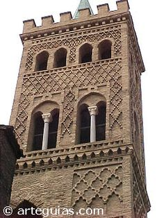 Campanario mudéjar de San Gil Abad. Zaragoza