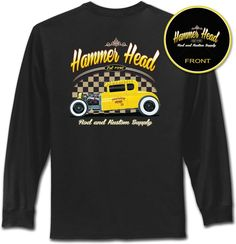 Hot Rod T Shirt American Graffiti Rat Rod Mens Long Sleeve Small to 4XL and Tall #PitStopShirtShop #GraphicTee