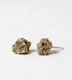 Volcan Lava Rock Earrings | Made from lava rocks gathered in Guatemala, these…