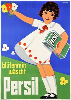 Vintage Advertising Posters | Persil Soap | Circa 1960