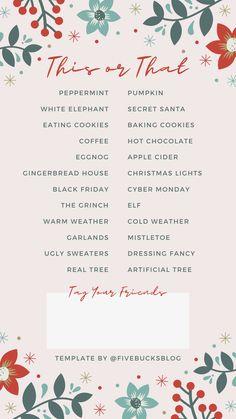IG Story Templates for the Holidays Christmas Post, A Christmas Story, Christmas Lights, Winter Christmas, Christmas Decor, Christmas Ideas, Fun Questions To Ask, Instagram Christmas, Merry Christmas Everyone