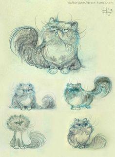 Persian illustrations- great tattoo idea- looks just like my kitty babies!