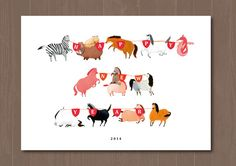 2014 - year of horse in Chinese culture by Cheng Yi-Fang, via Behance
