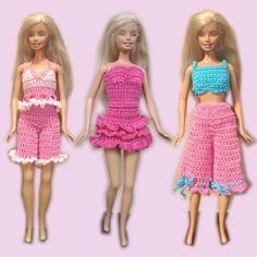 Patrones de vestidos de barbie a crochet
