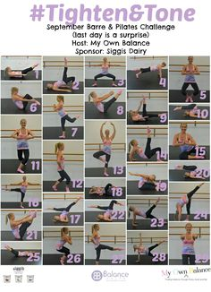 tighten & tone september- A barre and pilates challenge!