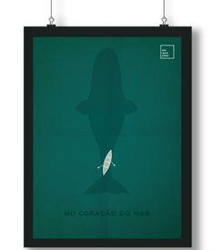 Pôster/Quadro minimalista No Coração do Mar