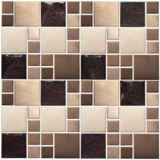Mosaïque Cubic, cuivre Mosaic Bathroom, Decoration, Tile Floor, Flooring, Texture, Crafts, Pebble Stone, Copper, Bath