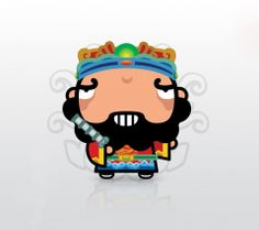 Chinese Door God 1 Chinese Door, Chinese New Year Crafts, New Year's Crafts, Luigi, Princess Peach, God, Fictional Characters, Dios, Allah