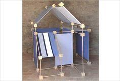 Jeu de construction géant en bois - Boite carton Trigonos Maxi