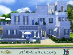 A typical hellenic designed house with beauteful spots to sit and enjoy your free time.  Found in TSR Category 'Sims 4 Residential Lots'