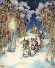 wYw - World of Freunde / Winter Bilder von Illustratoren Kinder Olga Ionaytis