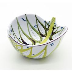 Scandinavian-art-pottery-stig-lindberg-gustavsberg-faience-leaf-bowl-C-1940