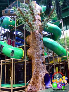 Great photo of the large indoor themed tree we designed and manufactured in this huge themed indoor playground for the City of Edina. www.iplayco.com or sales@iplayco.com ~ #weCREATEfun #weBUILDfun