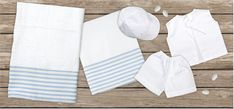 oil cloth set 6 pieces, ladopano,ladopana, λαδόπανα, set underwear baptism vaptism vaptisi New Year Gifts, New Baby Gifts, Unique Christmas Gifts, Christening Gifts, Stocking Fillers, Cotton Towels, Underwear, Etsy Handmade, Customized Gifts