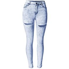Yoins Yoins Skinny Jeans ($27) ❤ liked on Polyvore featuring jeans, pants, bottoms, calças, blue, blue skinny jeans, skinny fit jeans, blue jeans, stretch denim jeans and cut skinny jeans