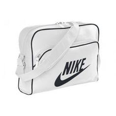 9229f6a7ba Nike Heritage SI Track Retro BA4271 White Black Unisex Shoulder Bag