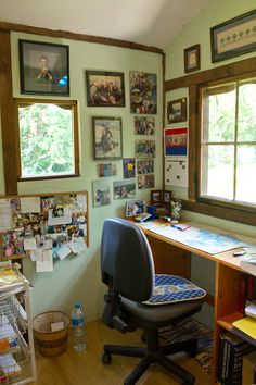Inside the writing chalet-the desk my husband made me Corner Desk, Husband, Writing, Furniture, Home Decor, Corner Table, Decoration Home, Room Decor, Home Furnishings