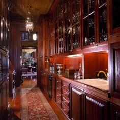 Butler pantry, designed by Kevin Harris Architect, LLC
