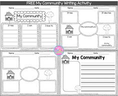 My Community Writing Freebie