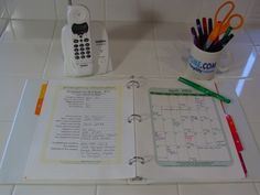 A guide to setting up a household notebook along with 40 pages of free organizing printable lists