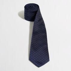 Silk Pindot Tie : Men's Ties & Pocket Squares | J.Crew Factory