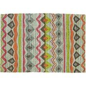 Grey, lime green, tangerine and fuchsia rug will make any gals space fun // www.LookNook.co