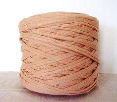 Ecru TShirt Yarn Cotton TShirt Tricot Fabric Jersey by vess65, $1.95