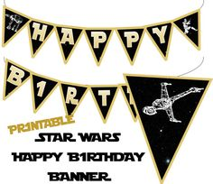 Etsy listing at https://www.etsy.com/listing/203427048/star-wars-banner-star-wars-happy