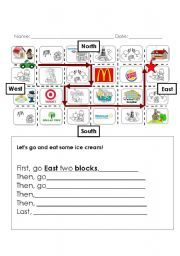 geography cardinal directions cut paste activity worksheets following topics are covered 1. Black Bedroom Furniture Sets. Home Design Ideas