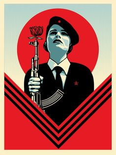 Peace Guard 2. 18 x 24 inches. Screen Print. Signed by Shepard Fairey. Ed. 450. $45. Available Tuesday, November 22 at 10AM (PST) on ObeyGiant.com in Store under Prints. Limit 1 per household