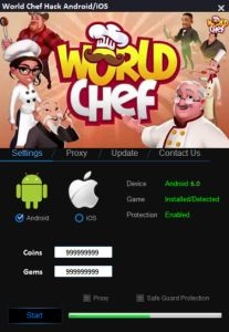 Our tool is designed with the aim of all players. Thanks to our hack those get any amount of Coins and Gems.   DOWNLOAD: http://mobile-games-hack.com/world-chef-hack/