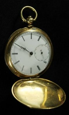 373ecd45c7c RARE PORCELAIN DIAL 18KT GOLD AND ENAMEL POCKET WATCH Relógio De Bolso De  Ouro
